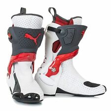 Puma 1000 V4 Motorcycle/Motorbike/Race Boots White/Grey/Red Size UK 5.5 / Eur 39