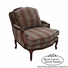 Ethan Allen French Louis XV Style Cheetah Print Bergere Lounge Chair