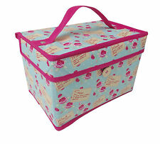 Country Club Sew & Mend Design Small Sewing Craft Storage Box Chest 21x14x14cm