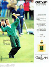 PUBLICITE ADVERTISING 086  1984  Vétiver eau toilette homme Guerlain *