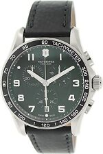Victorinox Swiss Army Men's Chrono Classic 241651 Black Leather Swiss Quartz Wat