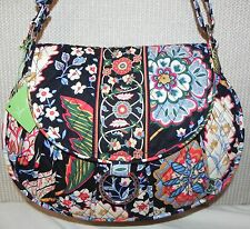 "Vera Bradley Versailles Saddle Up L Shoulder Bag NWT 9"" 13"" 4"" 53"" Cotton"