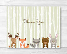 Woodland Animals Thank You Card Printable