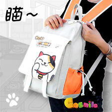 Game Neko Atsume ねこあつめ  Cute Cat Shoulder Bag Backpack School Bag PU Canvas Sa