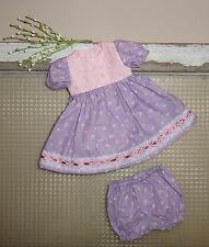 "Handmade Doll Clothes for 16"" - 18"" Baby Dolls - ""Skip & Play"" Purple Dress Set"