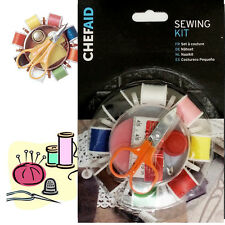 8 Reel Sewing Kit Susan Thread Hand Craft Work Thimble Scissor Pin Tape Travel