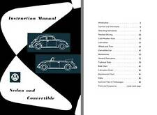 VW Volkswagen 1961 Instruction Manual for Sedan and Convertible