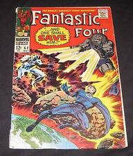 FANTASTIC FOUR #62 vg-/vg 12¢ cover Marvel Comic | Negative Zone | Blastaar
