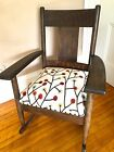 Arts & Crafts Mission Style Tiger Oak Rocker, new upholstery seat