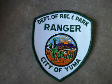 vintage 1970 Dept of Rec & Park City of Yuma Arizona AZ Ranger police patch