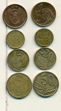 4 DIFFERENT COINS from SOUTH AFRICA - 5, 10, 20 & 50 CENTS (ALL DATING 2008)
