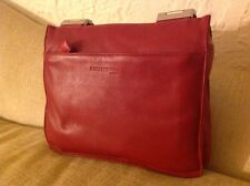Kenneth Cole Skin ll Red Leather Double Handle Shoulder Womens Handbag HK84021LE