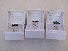 3 x Box Petite LAUREA set@glass @card verse~scrolls@elephant~bear~owl @degree