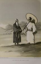 Original 1856 Perry Asian Expedition Lew Chew Costumes Middle