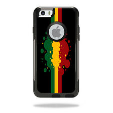 Skin Decal Wrap for OtterBox Commuter iPhone 6/6S Case Cover Rasta Flag
