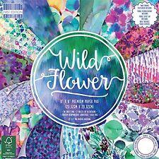 Dovecraft Primera Edición 8x8 Papel - Flor Silvestre - Tarjetas De Scrapbooking