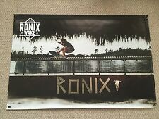 """RONIX DOMINIK  BANNER NEW! 48"""" * 32"""" 2 Free Ronix Wakeboard Stickers Decal"""