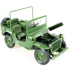 1:18 Scale Diecast Army Tactical Jeep Vehicle Military Model SUV Toys Gift