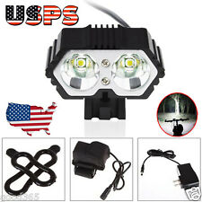 6000LM CREE XM-L T6 LED Bike Bicycle Torch Headlight +6400mAh Battery Pack 3Mode