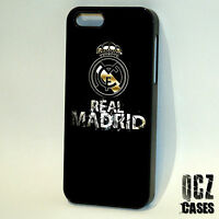 FC Real Madrid logo football case cover for iPhone 4/4s 5/5s/5c 6/6plus 6s 6s+