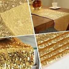 Light Gold Sequin Decor Table Runner Cloth Background For Wedding Party 30x180cm