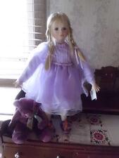 "Kaye Wiggs 24"" tall w/stand Angel  Chanelle porcelain doll BNIB coa 287/2500"