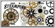 Steampunk  License Plate- Vanity AutoTag disambiguation retrotronics sci fi