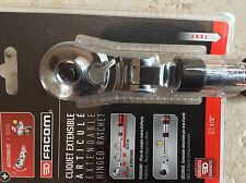 "FACOM JXL.171 3/8"" . FLEXI HEAD EXTENDABLE LOCKING RATCHET 247mm - 355mm  NEW"
