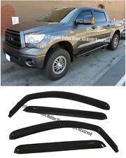 For 07-UP Toyota Tundra Crew Max IN CHANNEL Smoke Tinted Side Window Visors