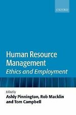 Human Resource Management : Ethics and Employment (2007, Paperback)