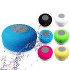 Waterproof Wireless Bluetooth Handsfree Mic Suction Shower Speaker Car Stereo KN