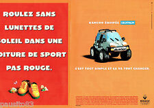 PUBLICITE ADVERTISING 026  1999  Renault  Kangoo Décathlon ( 2p)