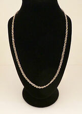 "18"" white gold fine fancy link chain. Stamped 750"
