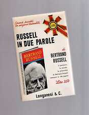 russel in due parole  - bertrand russel - may sext