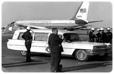 John F. Kennedy - Funeral Hearse leaving Love Field in Dallas , Nov 22, 1963