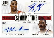 2013-14 NATIONAL TREASURES - HOWARD/OLAJUWON SPANNING TIME DUAL AUTO 1/10 SP
