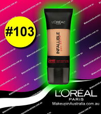 Natural Buff 103, LOreal Paris Infallible Pro Matte 24 Hr Foundation Makeup