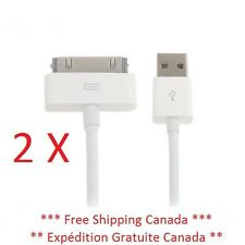 2 X USB Data Sync Charging Cable Fil for iphone 3G/3GS/4/4S ipod Touch