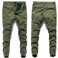 New Mens Cargo Overalls Baggy Relaxed Skinny Mid-rised Pants Casual Trousers B06