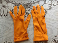 Fabulous vintage orange tasseled Cornelia James gloves size 7