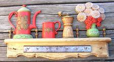 Vintage Coffeepot Flower Vase Kitchen Utensil Wall Rack 1976 Kitchen Kitsch