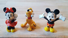 Lot 3 personnages figurines héros Disney figuren figurina figurilla 塑像 MICKEY