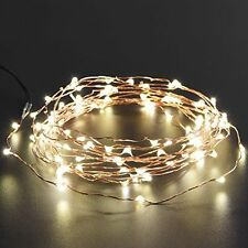 Thin Copper Barb Wire Style Solar Power Garden Patio Party Lights -120 LED Bulbs