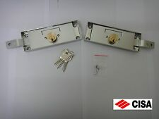 1 PAIR OF KEYED ALIKE CISA HIGH SECURITY SHUTTER LOCKS 41526.78(157 x 56mm)STEEL