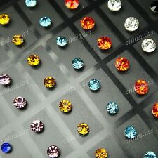 Fashion Jewelry 72pcs Stainless steel Zircon Women Stud Earrings Wholesale Lots