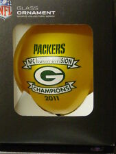NFL Glass Ornament, Green Bay Packers, (2011 North Division Champions)