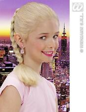 Childrens Blonde Hair Extension - Plaited Plait Pony Tail - Princess Fancy Dress
