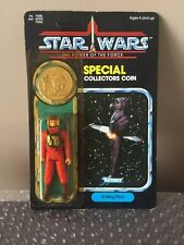 STAR WARS VINTAGE KENNER 100% POTF w COIN MOC B WING PILOT Unpunched Wow