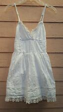 Abercrombie New York  White Cotton Lace & Ruffle Mini Dress XS
