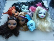 Monster High Bundle Of 7 Heads For Ooak Project Or For Parts (4)